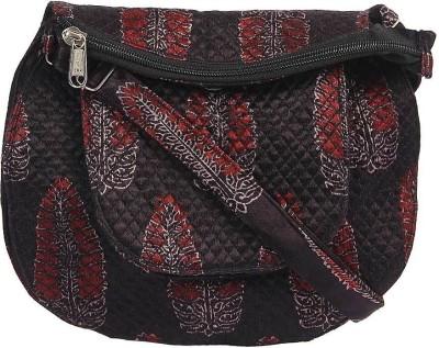 Ethnicshack Women Casual Black Cotton Sling Bag