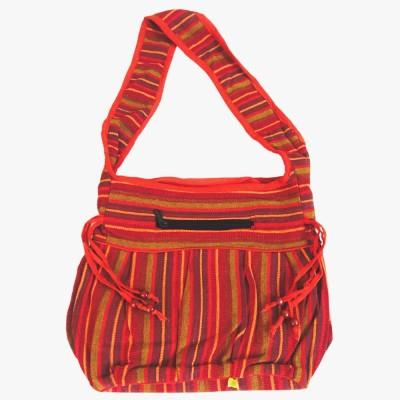 Old School Ethnic Girls Multicolor Cotton Sling Bag