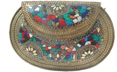 ALAR Women Multicolor Metal Sling Bag