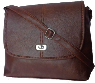 Good Life Stuff Women Brown Leatherette Sling Bag