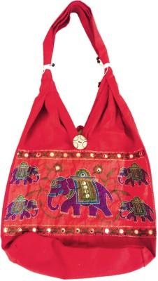 Old School Ethnic Girls Maroon Cotton Shoulder Bag