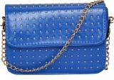 FabSeasons Women Blue PU Sling Bag