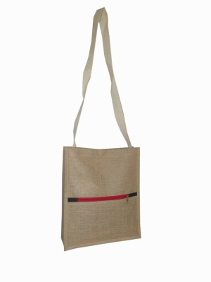 Aaltex Men, Women, Girls, Boys Casual Brown Jute Sling Bag