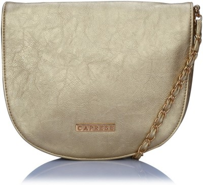 Caprese Girls, Women Gold Leatherette Sling Bag
