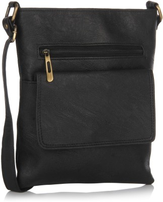 Alessia74 Women Casual Black PU Sling Bag