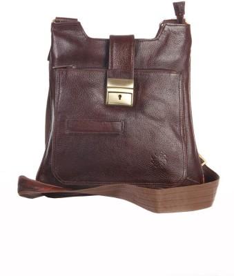 FabU Men, Women Casual Brown Genuine Leather Sling Bag