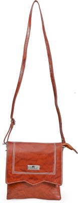 Starco Girls, Women Brown Genuine Leather Sling Bag