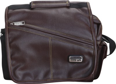 Good Win Men, Women Casual Brown Leatherette Sling Bag