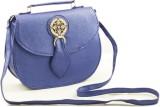 Voaka Women Blue Leatherette Sling Bag