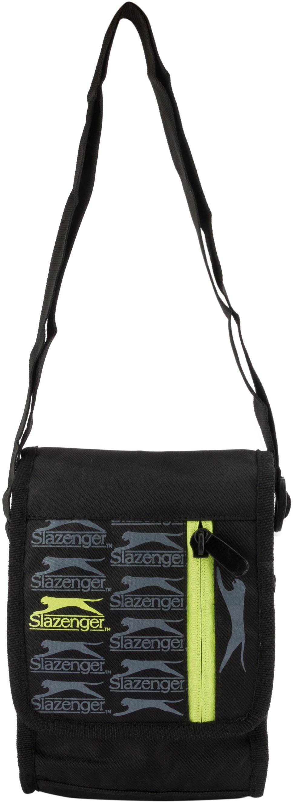 Sling bag below 500 - Slazenger Men Women Black Green Polyester Sling Bag