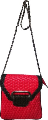 Colorhut Girls Casual Red Genuine Leather Sling Bag