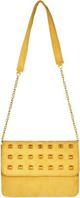 Lizzie Women Yellow PU Sling Bag