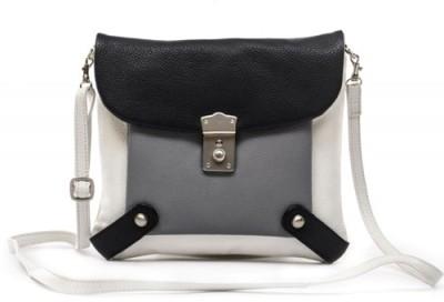 Sophia Visconti Girls White Genuine Leather Sling Bag