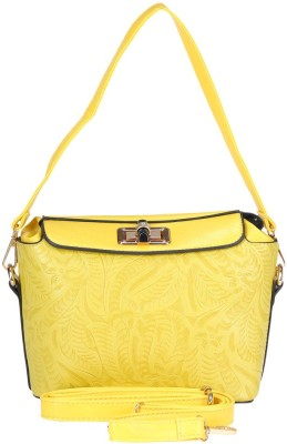 Daks Women Yellow PU Sling Bag