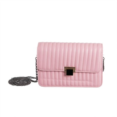 Peaubella Girls, Women Pink PU Sling Bag