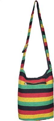 JBI Girls Multicolor Canvas Sling Bag