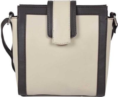 Lapis O Lupo Women White PU Sling Bag
