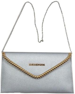 mezzo99 Girls, Women Silver PU Sling Bag