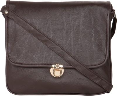 MTE Girls Brown Leatherette Sling Bag