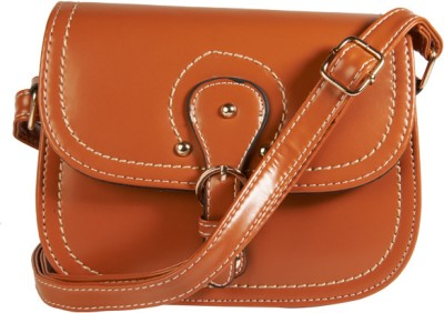 Young & Forever Women Casual, Evening/Party, Festive Brown PU Sling Bag