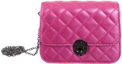 Peaubella Girls Pink PU Sling Bag