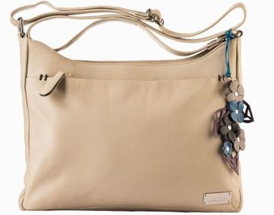 Klasse Women Formal Beige Genuine Leather Sling Bag