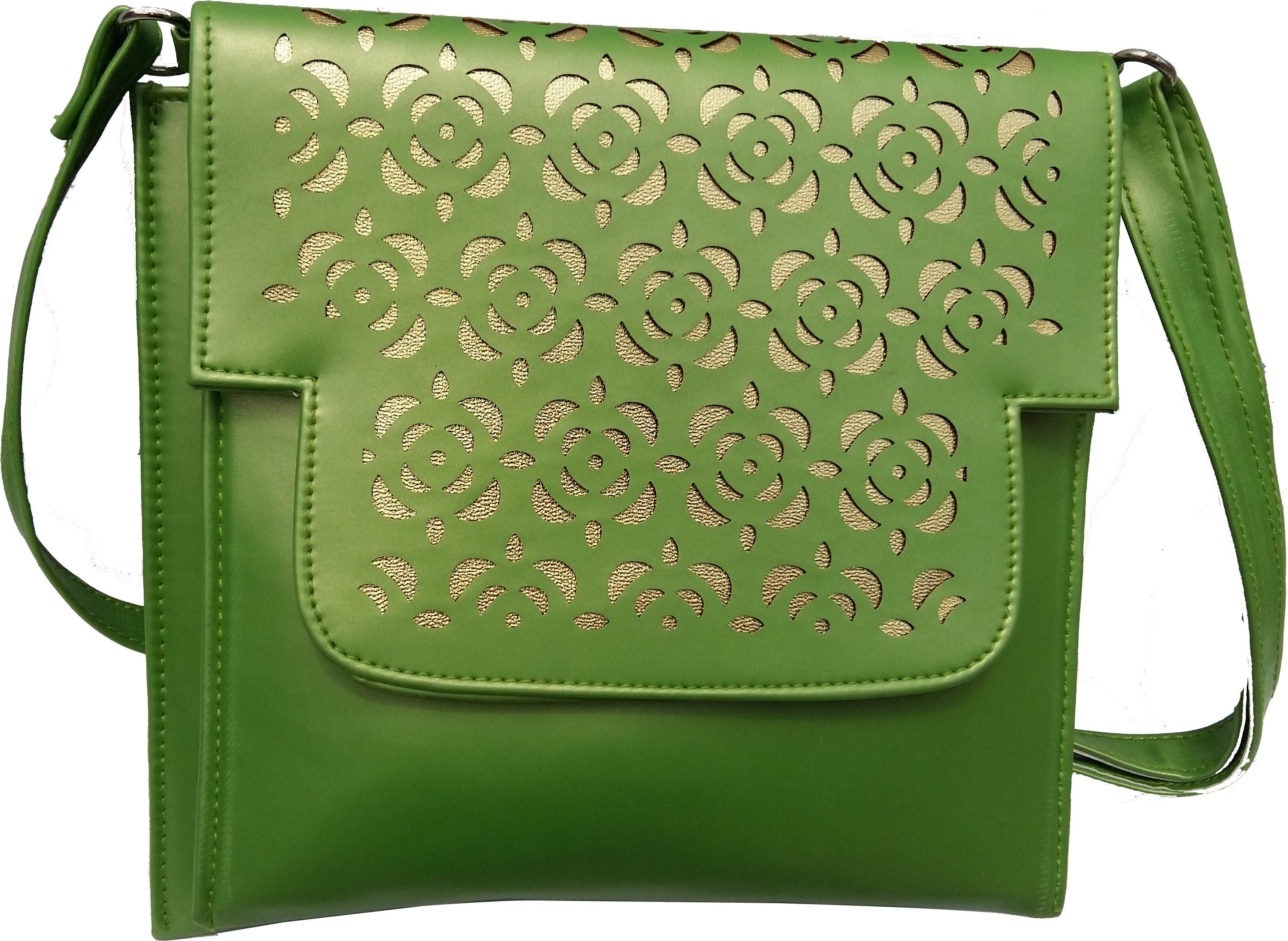 Sling bag below 500 - Surmount Girls Women Green Pu Sling Bag