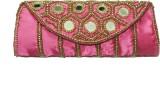 ShopperzGuide Women Pink Silk Sling Bag