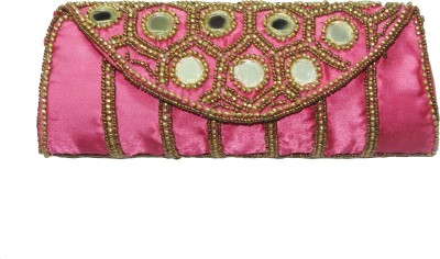ShopperzGuide Girls, Women Pink Silk Sling Bag