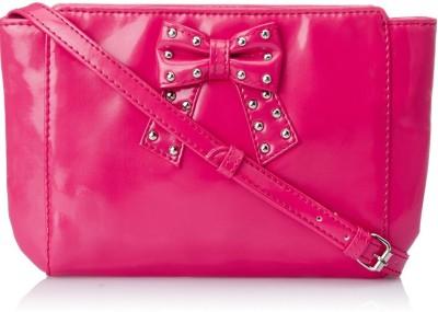 Donna & Drew Women Pink PU Sling Bag