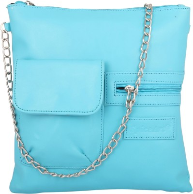 Spice Art Girls Casual Blue Leatherette Sling Bag