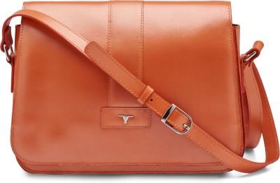 Bulchee Girls, Women Orange Leatherette Sling Bag