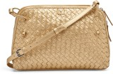 Bulchee Women Gold Leatherette Sling Bag