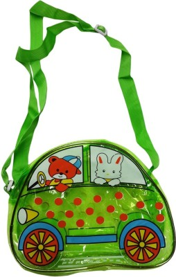 Klassik Boys, Girls Green Acrylic Sling Bag