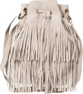 Romari Women White Genuine Leather Sling Bag
