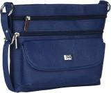 Dice Women Casual Blue PU Sling Bag