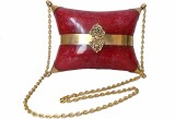 Modish Look Women Festive Red, Gold Acry...