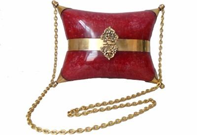 Modish Look Women, Girls Festive Red, Gold Acrylic Sling Bag