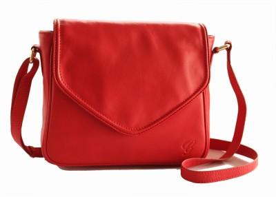 Gripp Girls, Women Red Genuine Leather Sling Bag