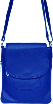 zasmina Girls Blue PU, Leatherette Sling Bag