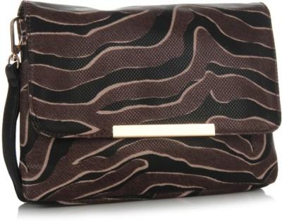 Addons Women Casual Brown PU Sling Bag
