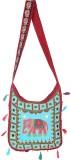 Rajrang Women Maroon Cotton Sling Bag