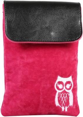 FabSeasons Women, Girls Casual Pink Velvet Sling Bag