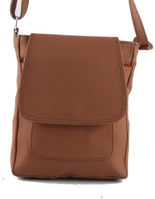 Rockyard Girls, Women Tan Leatherette Sling Bag