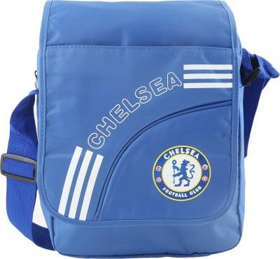 Merchant Eshop Men, Boys Blue Leatherette Sling Bag