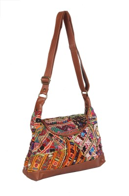 Jaipurtextileshub Women Multicolor Cotton Sling Bag