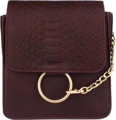 20Dresses Women Maroon PU Sling Bag