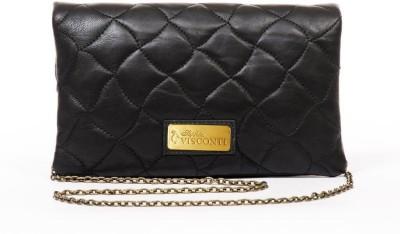 Sophia Visconti Girls Casual Black Genuine Leather Sling Bag