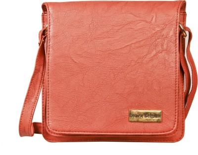 Louise Belgium Girls Orange Leatherette Sling Bag