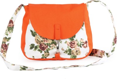 Vogue Tree Women Casual Orange Canvas Sling Bag